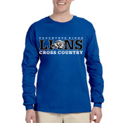 LIONS -  4930 Fruit of the Loom Adult 5oz. 100% Heavy Cotton HD™ Long-Sleeve T-Shirt