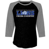 LIONS - 6051 Next Level Unisex Triblend 3/4-Sleeve Raglan